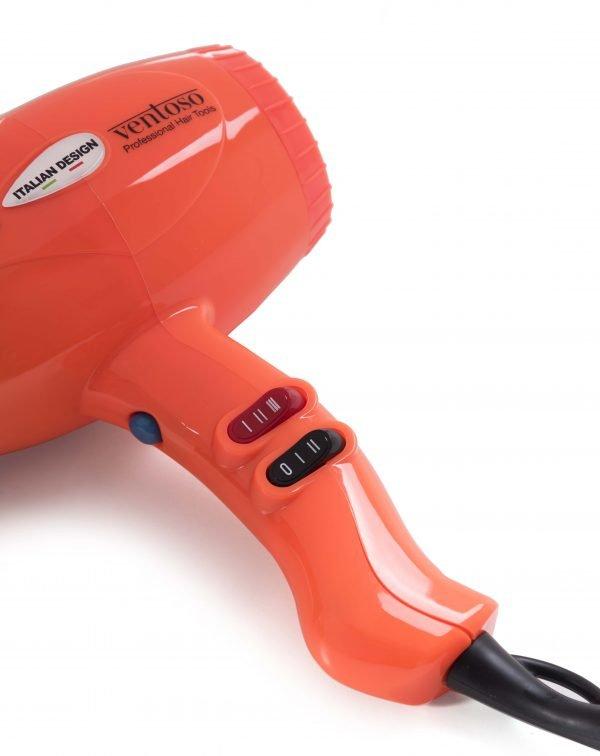 Ventoso // V5 Silex5000 Profesyonel Kuaför Fön Makinesi - Turuncu, Flexy Katlanabilir Difüzörlü