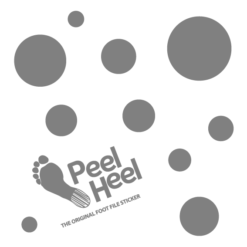 PeelHeel Gri Noktalı Topuk Törpüsü 19×19 cm